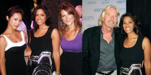 etalk Festival party Faze girls Richard Branson