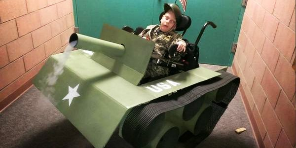 handicapped brother boy tank