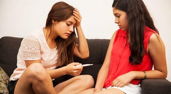 pregnancy test pregnant girl friend