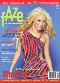 Spring 2002 Shakira on Cover of Faze Magazine
