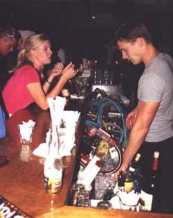 Bar at a nightclub