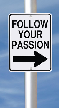 follow your passion sign post
