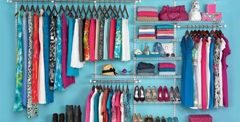 Organized clothing categorize neat colours