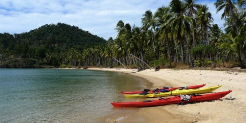 Kayaks on Koh Chang Beach