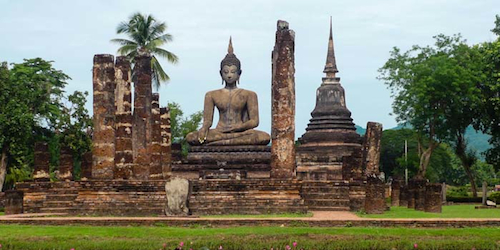 Sukhothai Ruins in Thailand