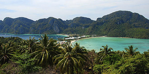 Tonsai Village Beach in Koh Phi Phi.