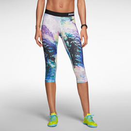 running girl Nike Pro Core Compression Aerial Capris