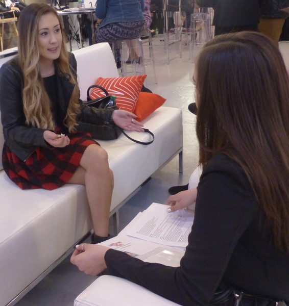 Holly interviewing LaurDIY
