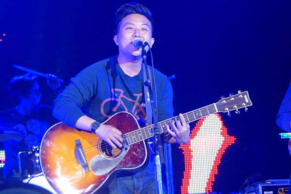David Choi performing