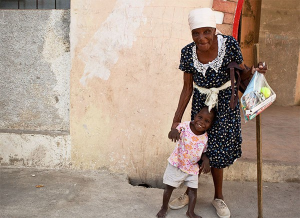 In the devastated streets of Port-au-Prince, Haiti
