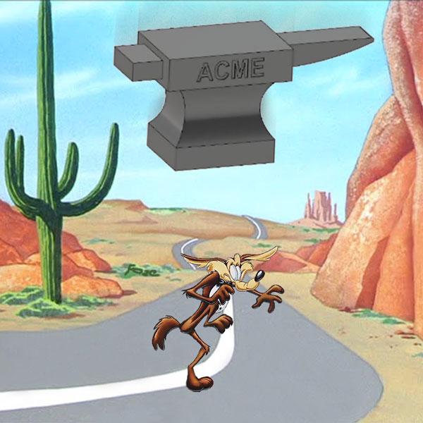 Wile E Coyote Anvil