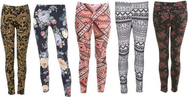 patterned leggings