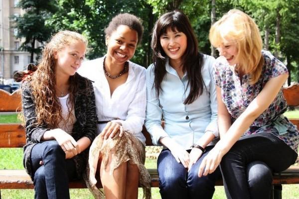 diverse multiracial girlfriends
