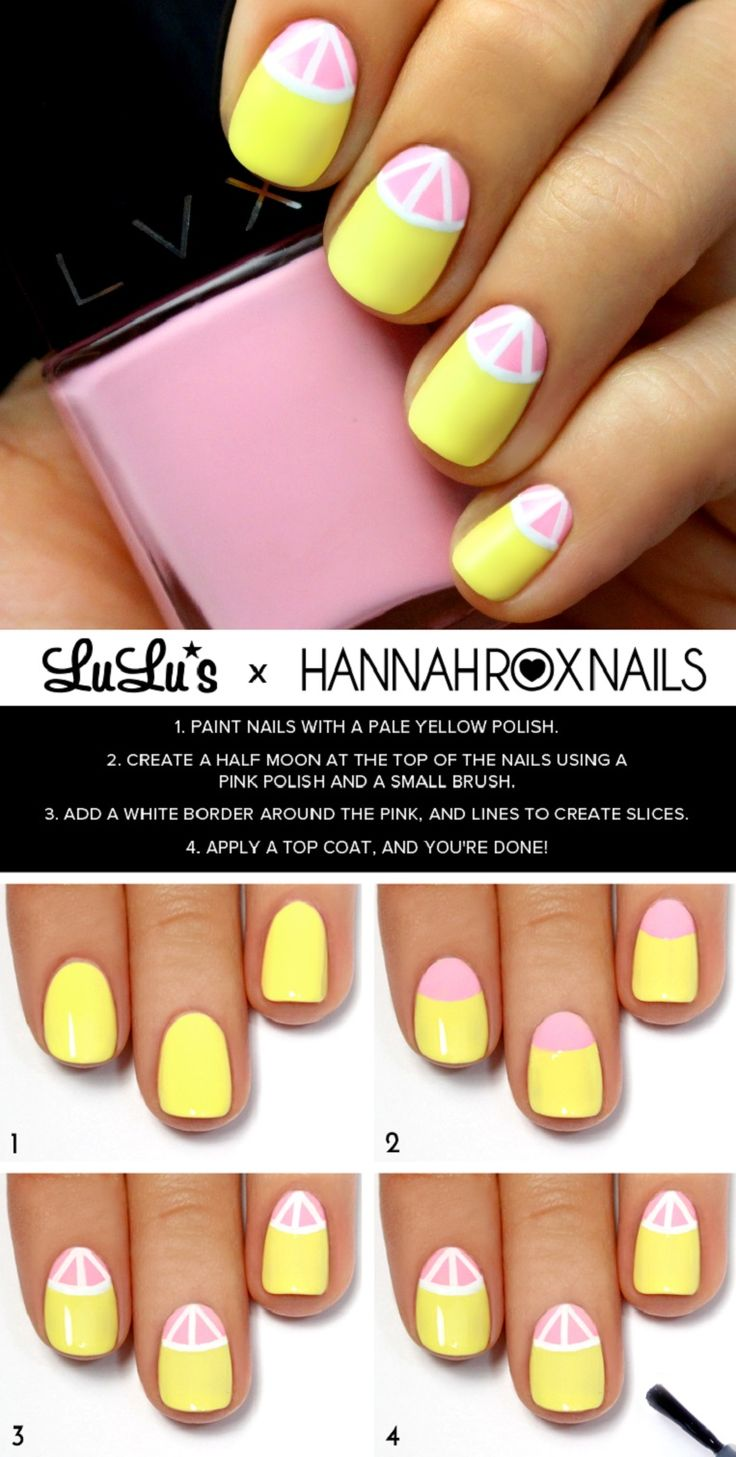 lemonade nails