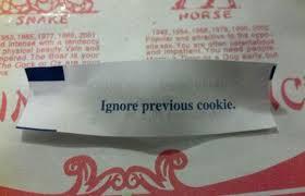 Weird Fortune Cookie