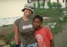 Lorraine Zander in Dominican Republic