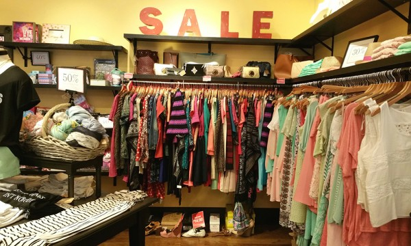 The Sale Section of a store.