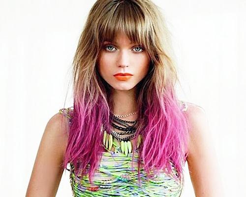 Pink Dip Dye Tips Hair