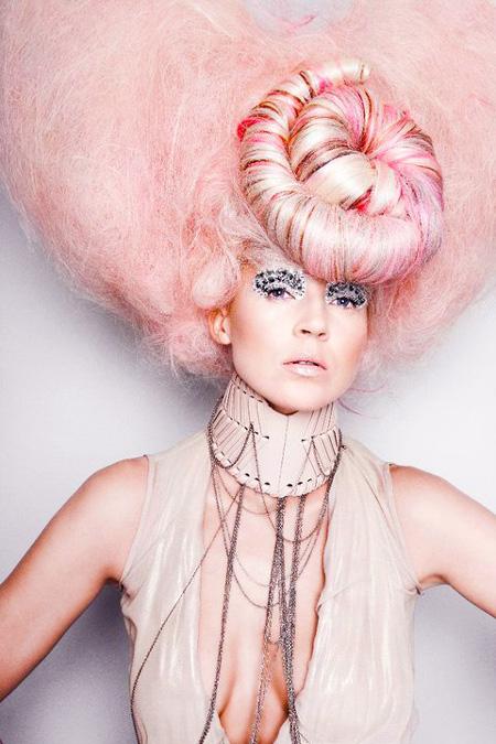 Art Pink Hair Avant Garde Hairstyle