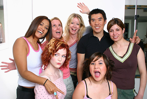 The Faze Crew: Lorraine, Jayne Rae, Holly Dodson, Daniel Fung, Fariba
