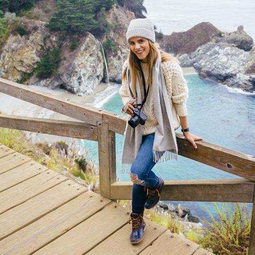 Girl Hiking Coast Photographer