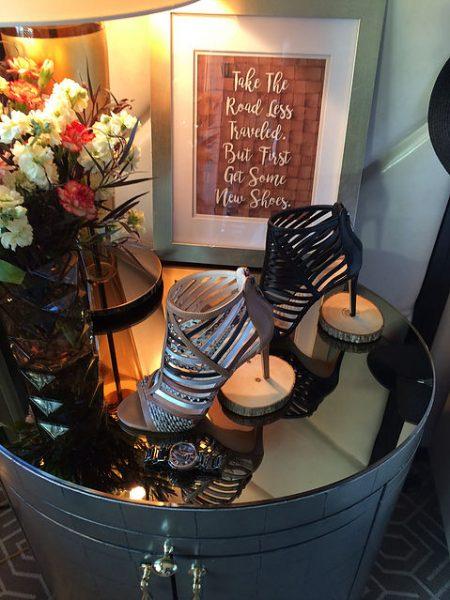 multiple materials on heel