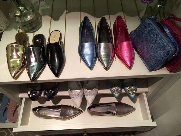 Metallic shoes