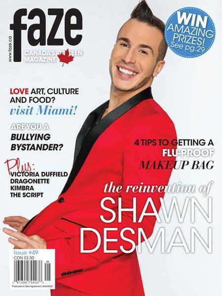 Shawn Desman on cover of Faze Magazine