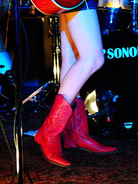 Lindi Ortega The infamous little red boots--super-cute!