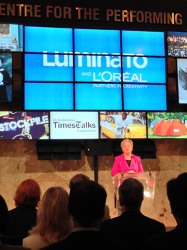 Luminato announcement with CEO Janice Price