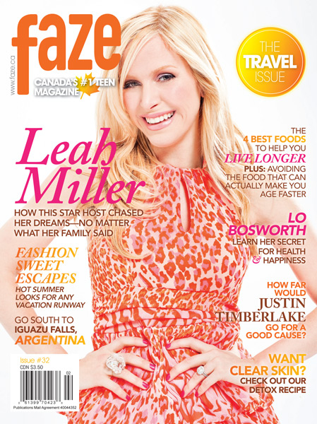 Leah Miller on cover of Faze Magazine