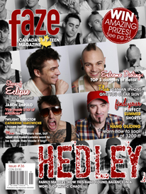 Hedley on cover of Faze Magazine
