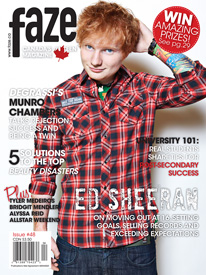 Ed Sheeran 1st International Magazine Cover