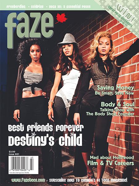 Destiny's Child on the cover of Faze Magazine