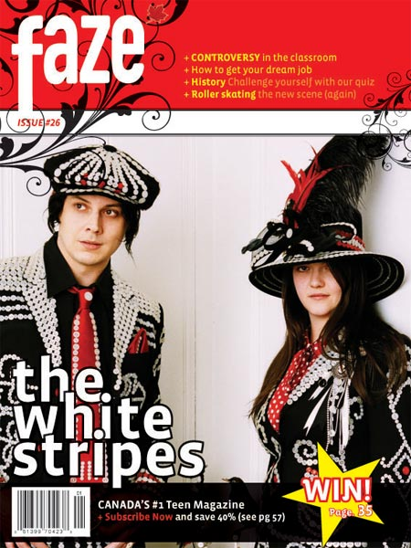 The White Stripes on cover of Faze Magazine