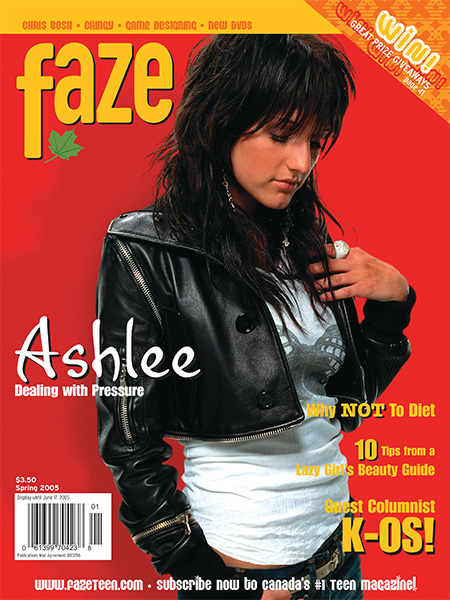 Ashlee Simpson on the cover of Faze Magazine
