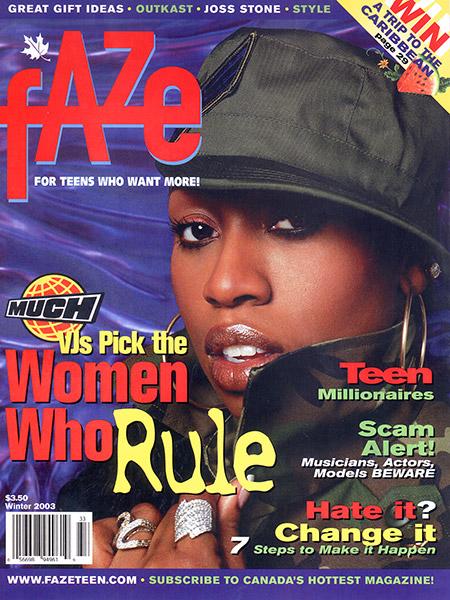Missy Elliot on the cover of Faze Magazine