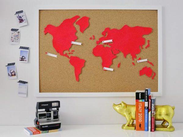 Corkboard Map DIY Projects