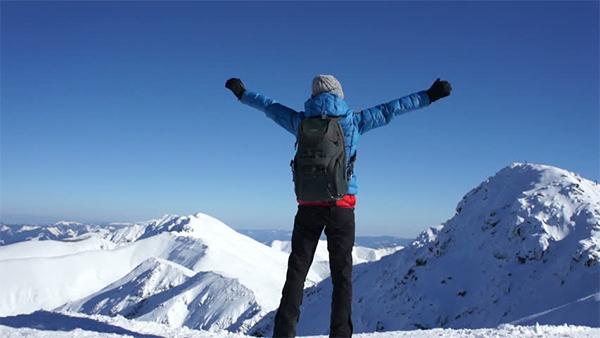 Girl on Top Hiking