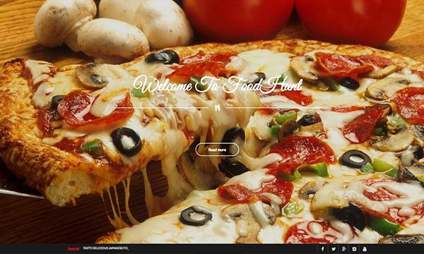 food or restaurant website design