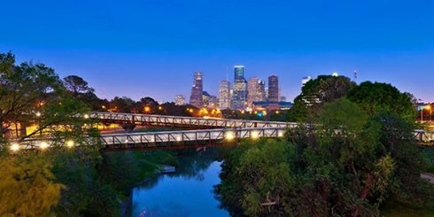 Evening View of Houston