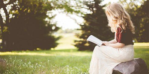 Girl Reading Books Summer
