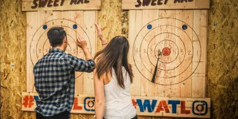Axe Throwing Date - first date ideas