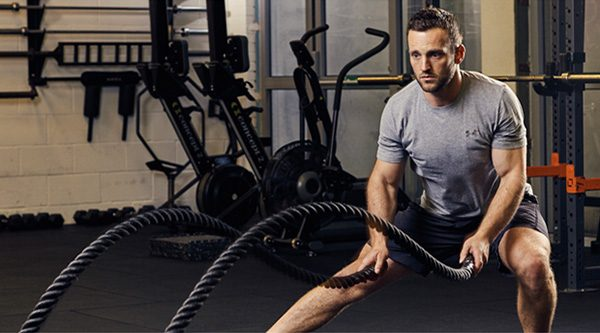 Stay motivated - Workout in the gym - ropes