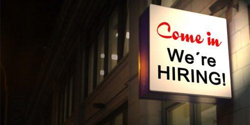 Hiring Sign Career Change