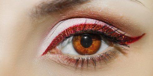 red eyeshadow eyeliner