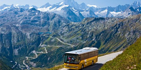 public transport - mountain bus