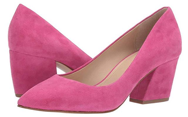 Botkeir Stella Block Heel Pumps Pink