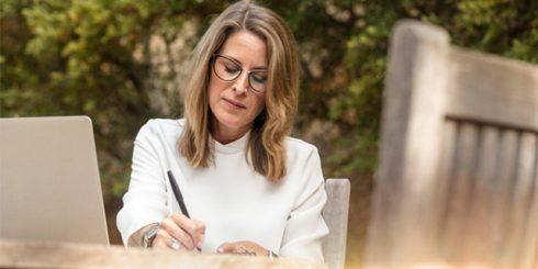 business woman, writer, retirement