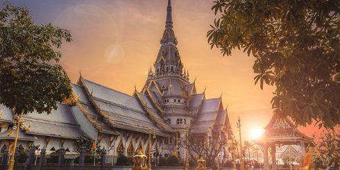 Thailand Temple sunset